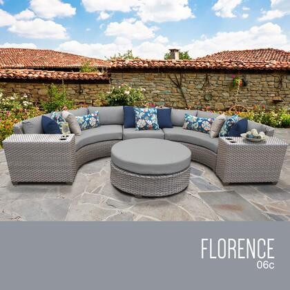 FLORENCE-06c Florence 6 Piece Outdoor Wicker Patio Furniture Set 06c with 1 Cover in