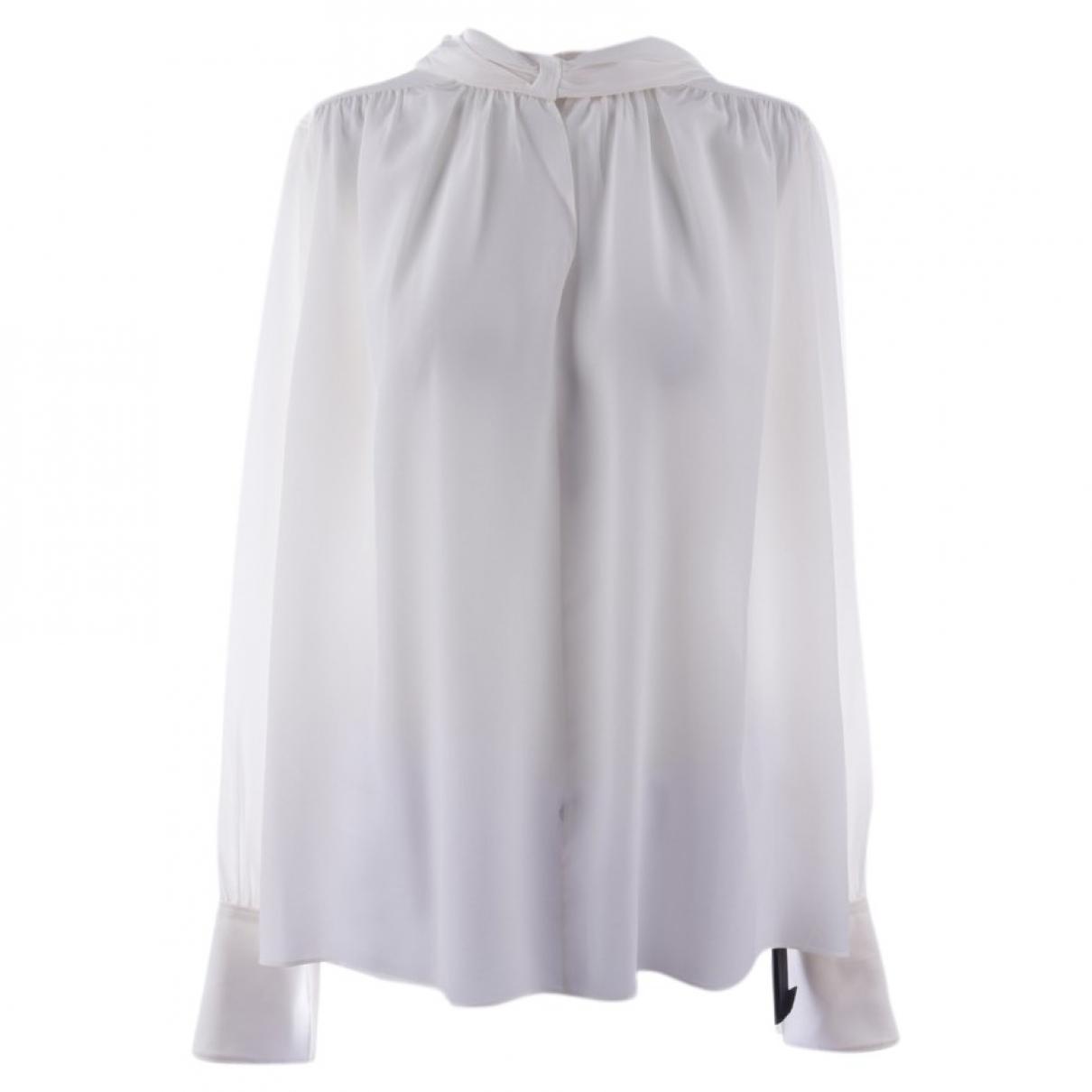 Joseph - Top   pour femme en soie - blanc