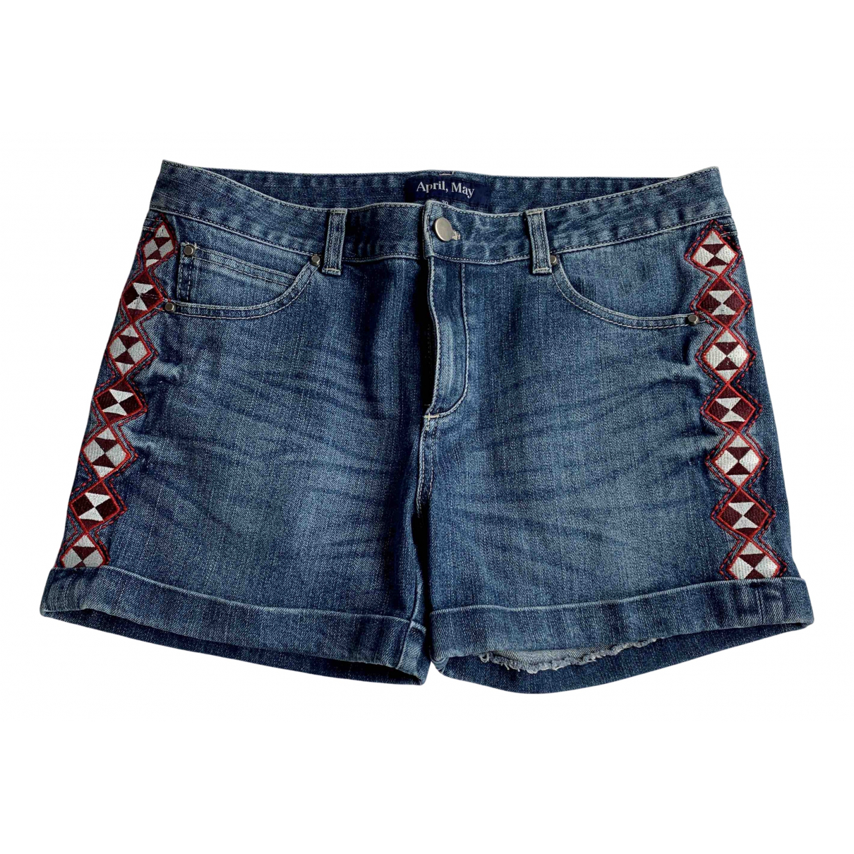 April May \N Shorts in  Blau Denim - Jeans