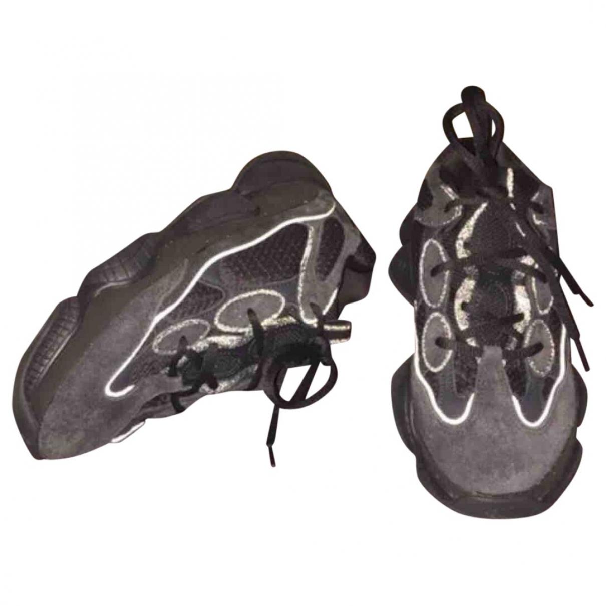 Yeezy X Adidas - Baskets   pour femme en suede - noir
