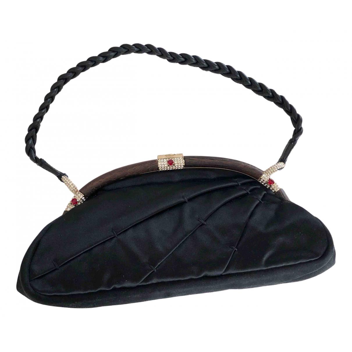 Valentino Garavani - Pochette   pour femme en soie - noir