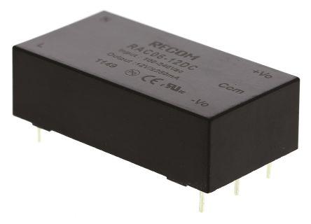 Recom , 6W Embedded Switch Mode Power Supply SMPS, ±12V dc, Encapsulated