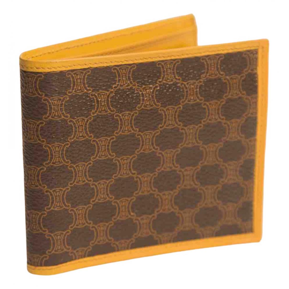 Celine - Portefeuille   pour femme en toile - marron