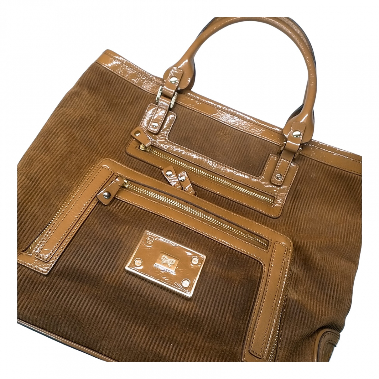 Anya Hindmarch N Brown Velvet handbag for Women N