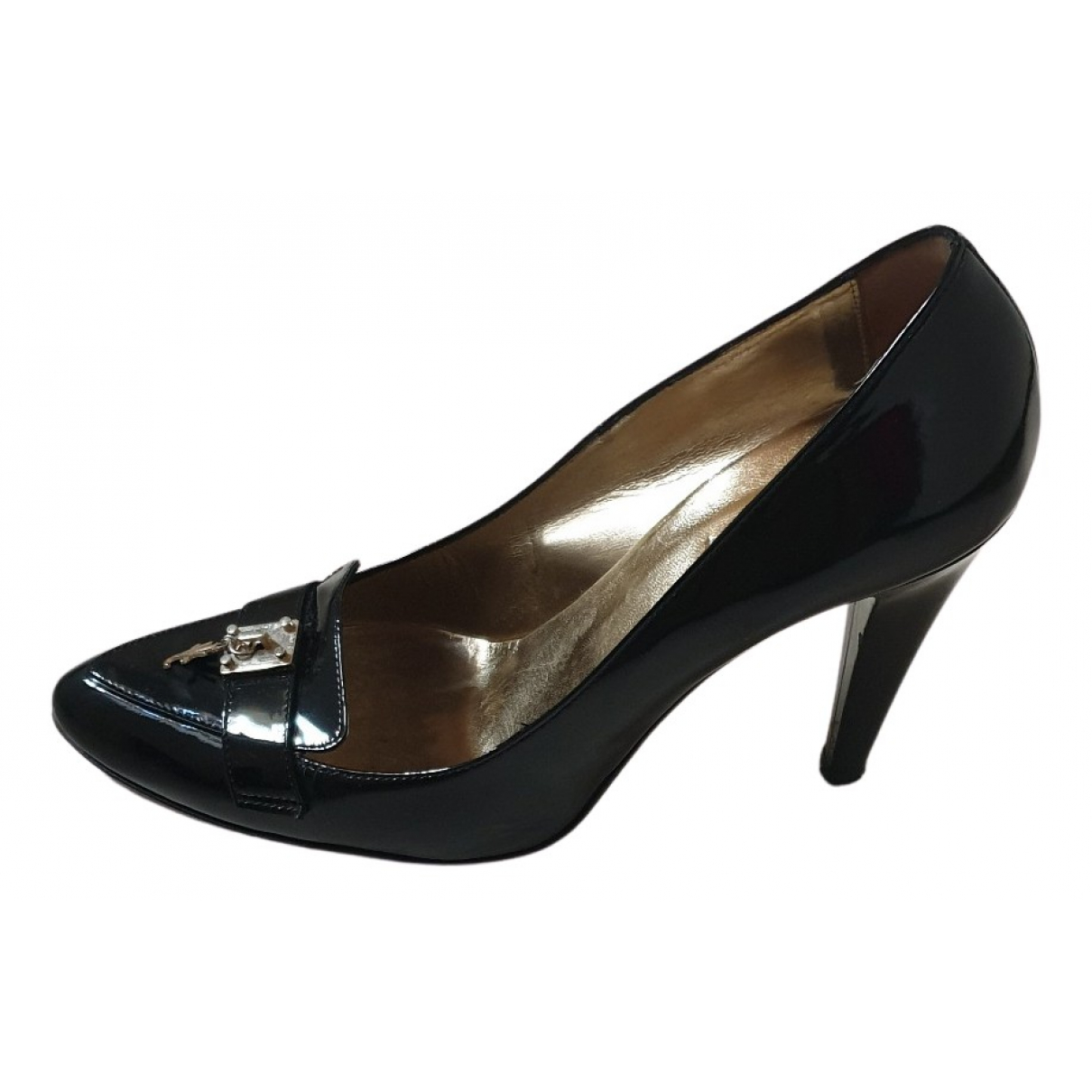 Versace Jeans N Black Patent leather Heels for Women 40 EU