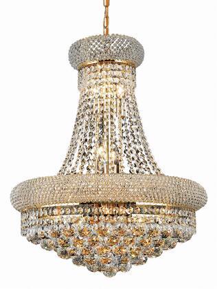 V1800D20G/EC 1800 Primo Collection Chandelier D:20In H:26In Lt:14 Gold Finish (Elegant Cut