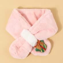 Kleinkind Maedchen Weihnachten Schal mit Geschenk Dekor