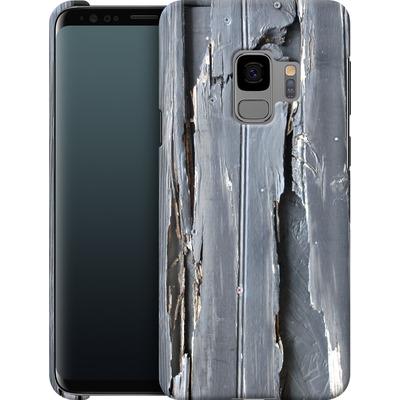 Samsung Galaxy S9 Smartphone Huelle - Wood Black Fence von Brent Williams