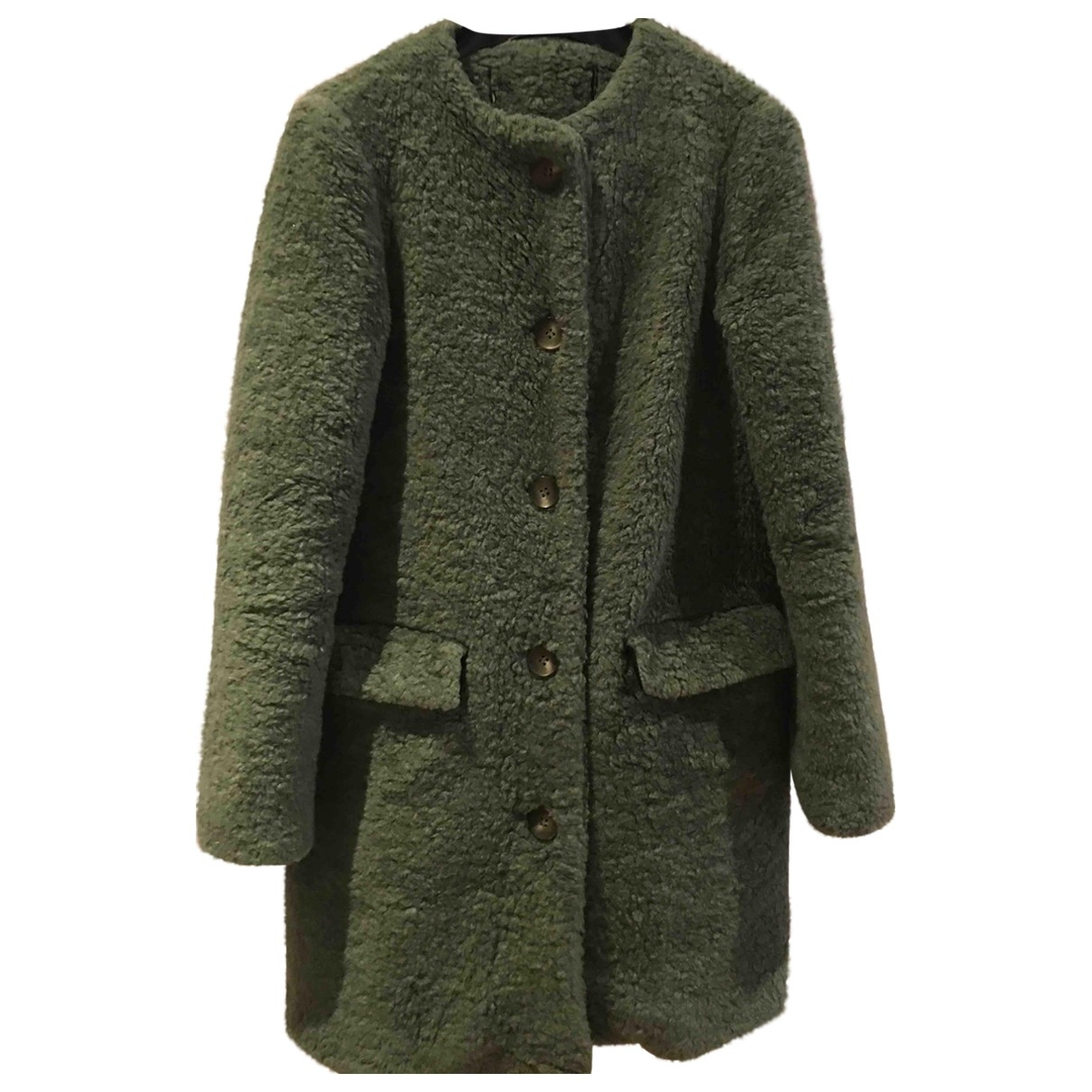 Zara \N Green coat for Women 40 IT