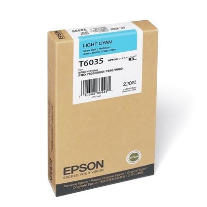 Epson T603500 Original Light Cyan Ink Cartridge