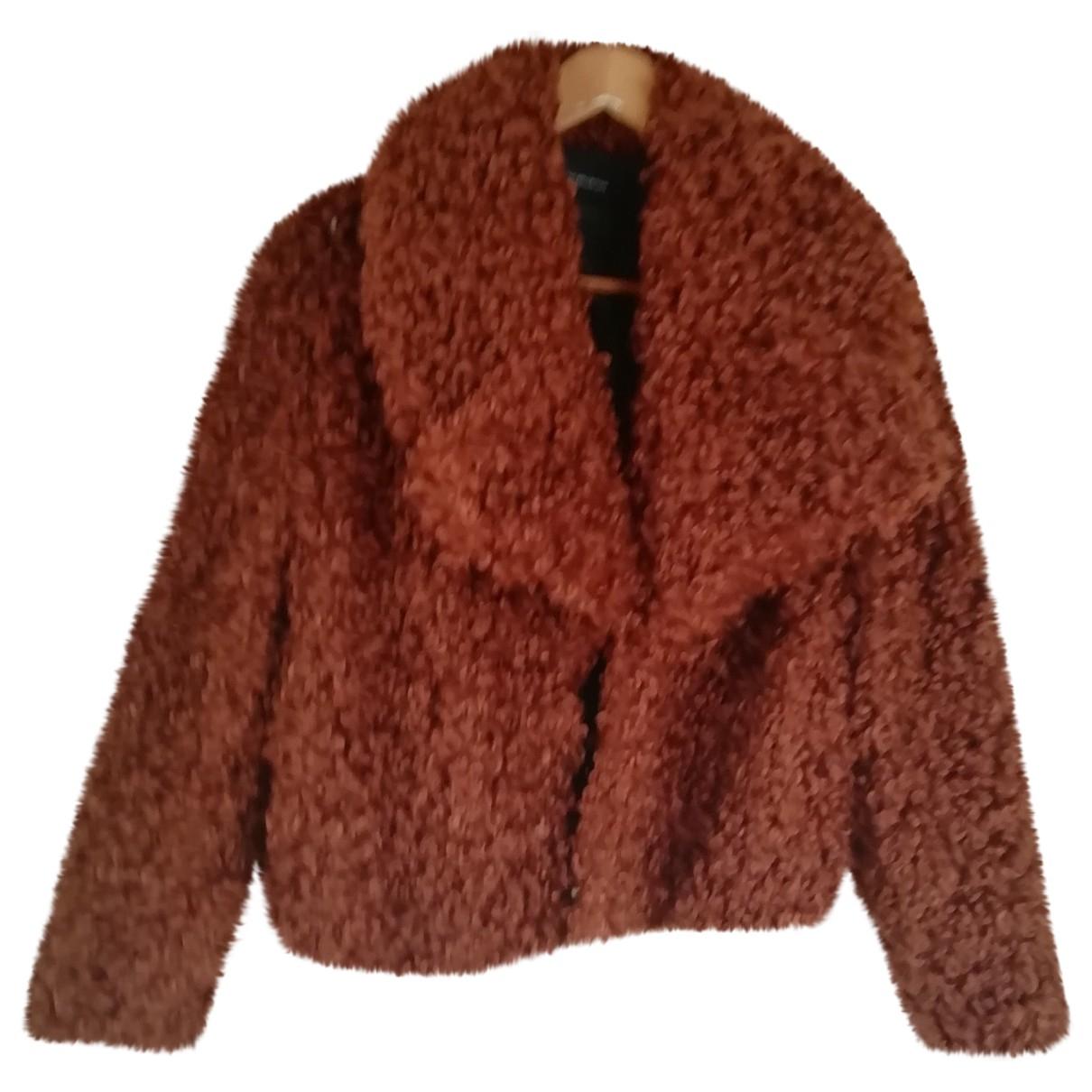 Autre Marque - Manteau   pour femme en fourrure synthetique - camel