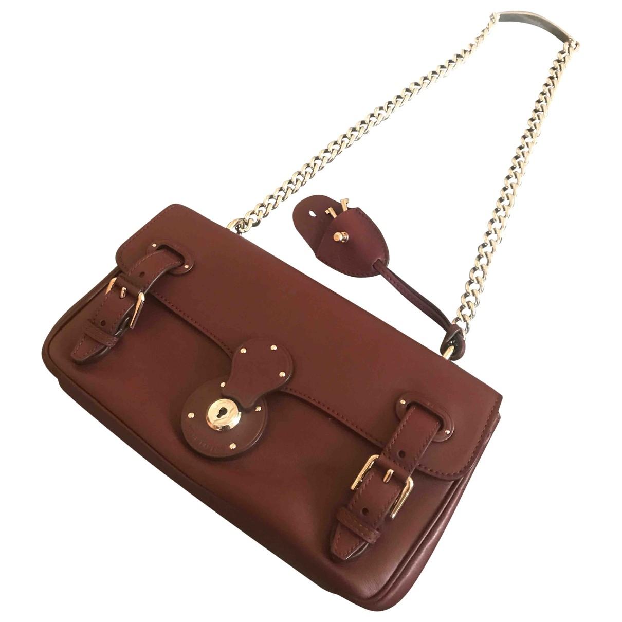 Ralph Lauren Collection \N Handtasche in  Bordeauxrot Leder