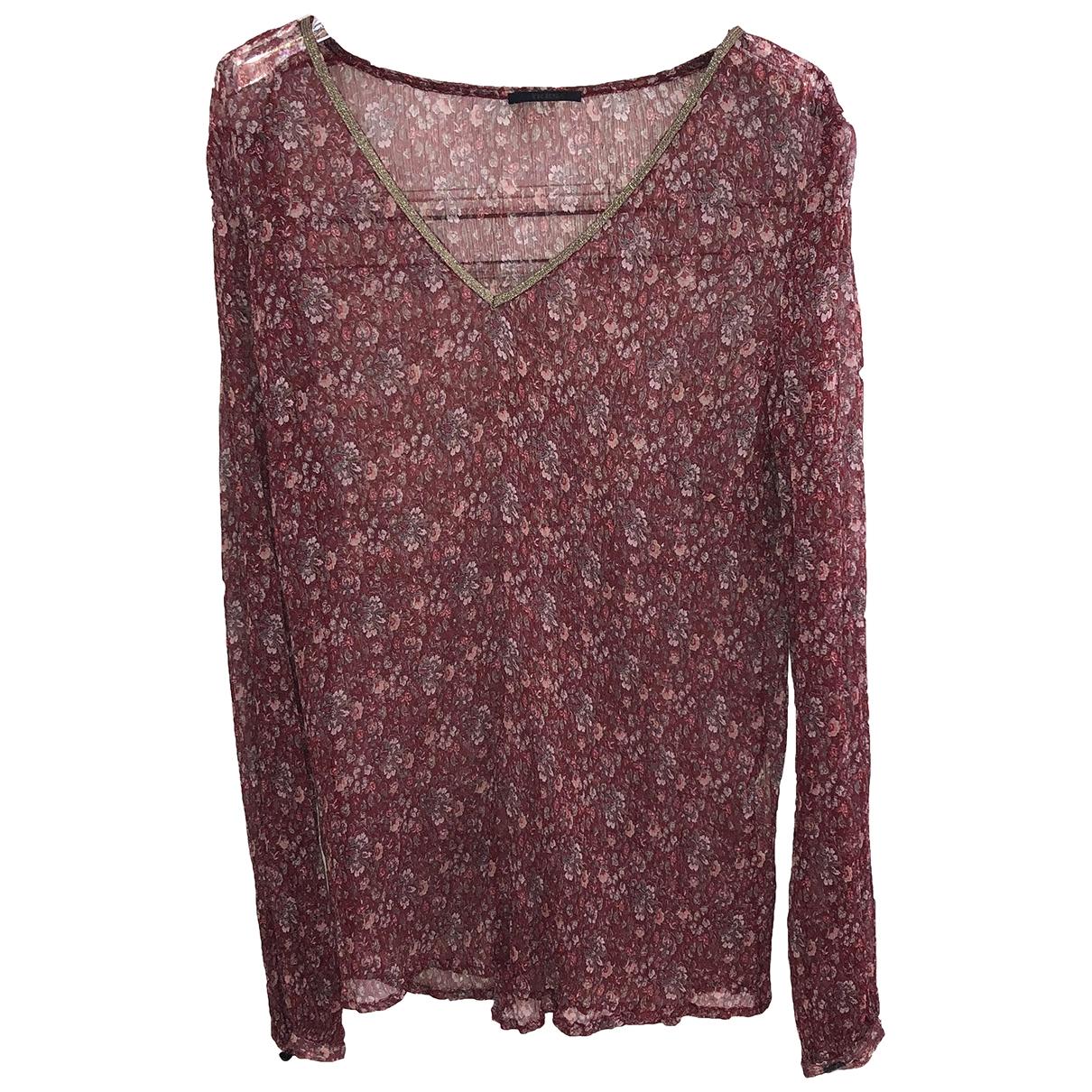 Ikks \N Burgundy Silk  top for Women 40 FR