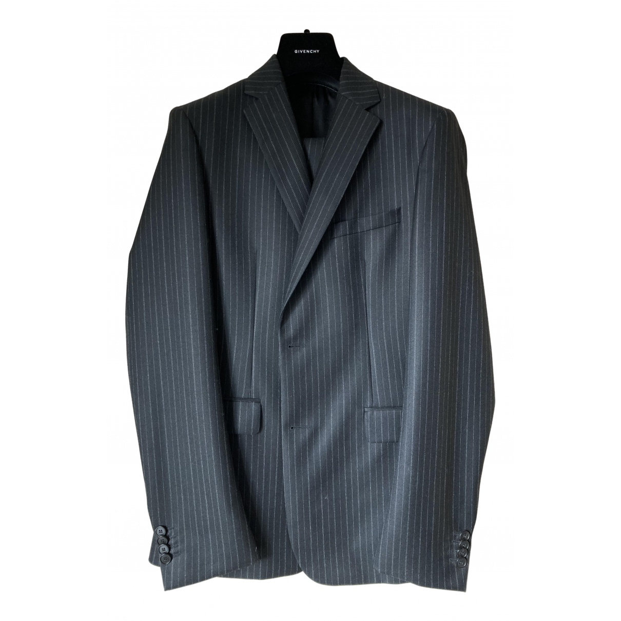 Givenchy N Grey Wool Suits for Men 48 FR