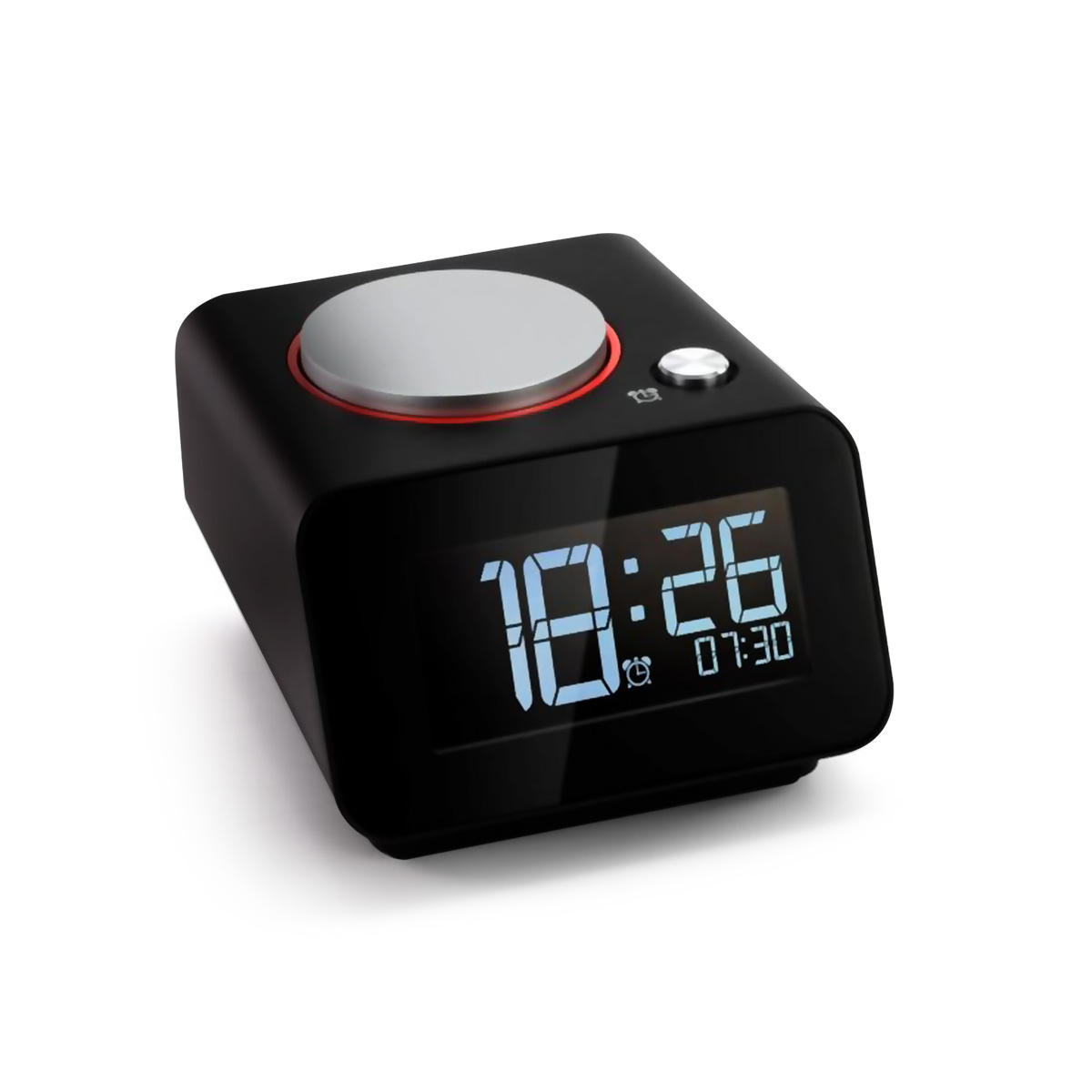 AUGIENB Rechargeable Bedroom Digital Alarm Clock With Dual USB Charging Port For Mobile Phones