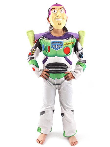 Milanoo Disfraz de niños Halloween Niños Disney Cosplay Toy Story Buzz Lightyear Light Green 2 piezas Niños Cosplay Disfraces Halloween Disfraz Carnav
