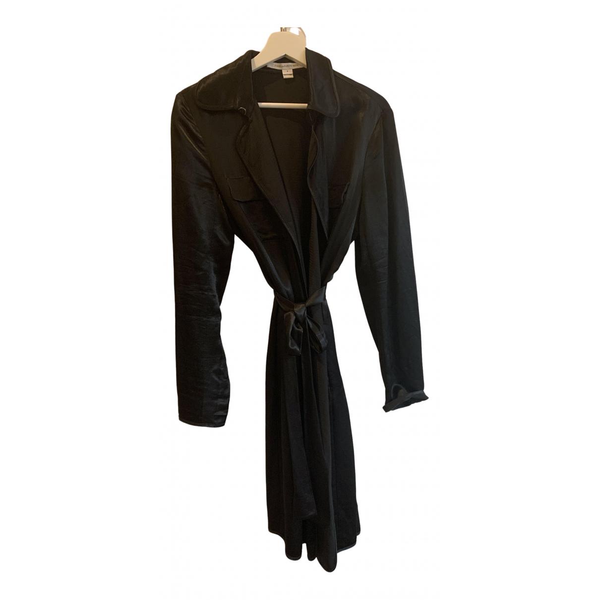 Diane Von Furstenberg - Trench   pour femme en soie - bleu