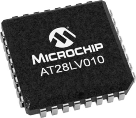 Microchip AT28LV010-20JU, 1Mbit Parallel EEPROM Memory, 200ns 32-Pin PLCC Parallel (32)