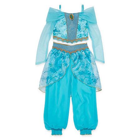 Disney Collection Jasmine Girls Costume, 3 , Blue