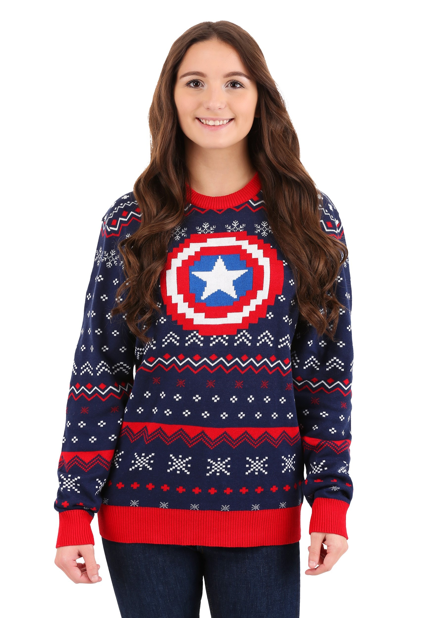 Captain America Marvel Ugly Christmas Sweater