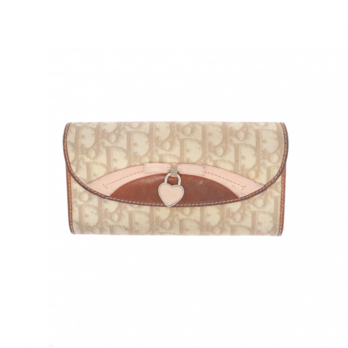 Dior \N Portemonnaie in  Beige Leinen
