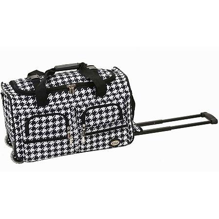 Rockland 22 Inch Rolling Duffel Bag, One Size , Black
