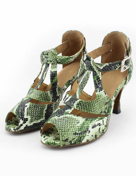 Milanoo Zapatos de bailes latinos con estampado de serpiente