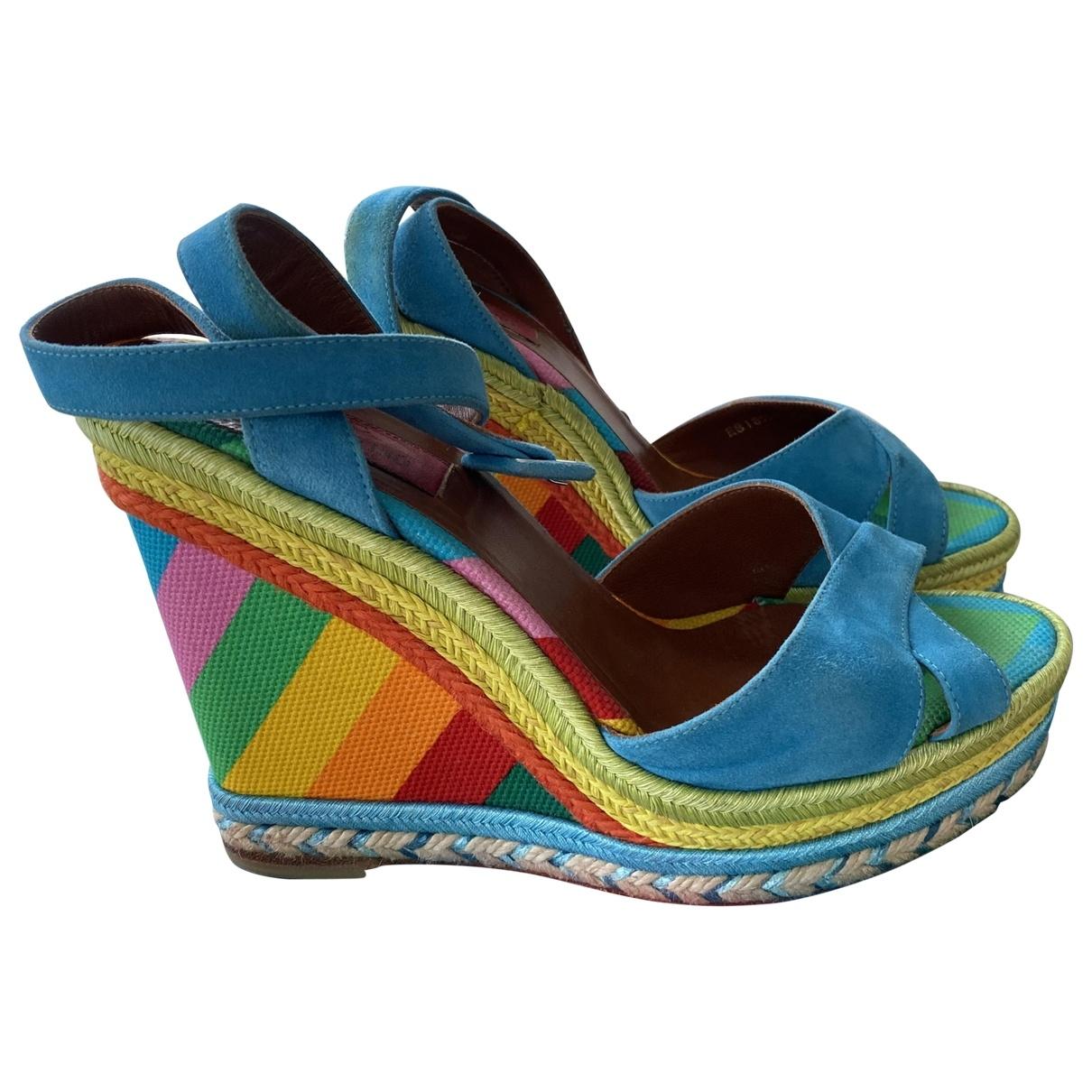 Valentino Garavani \N Multicolour Suede Sandals for Women 38 EU