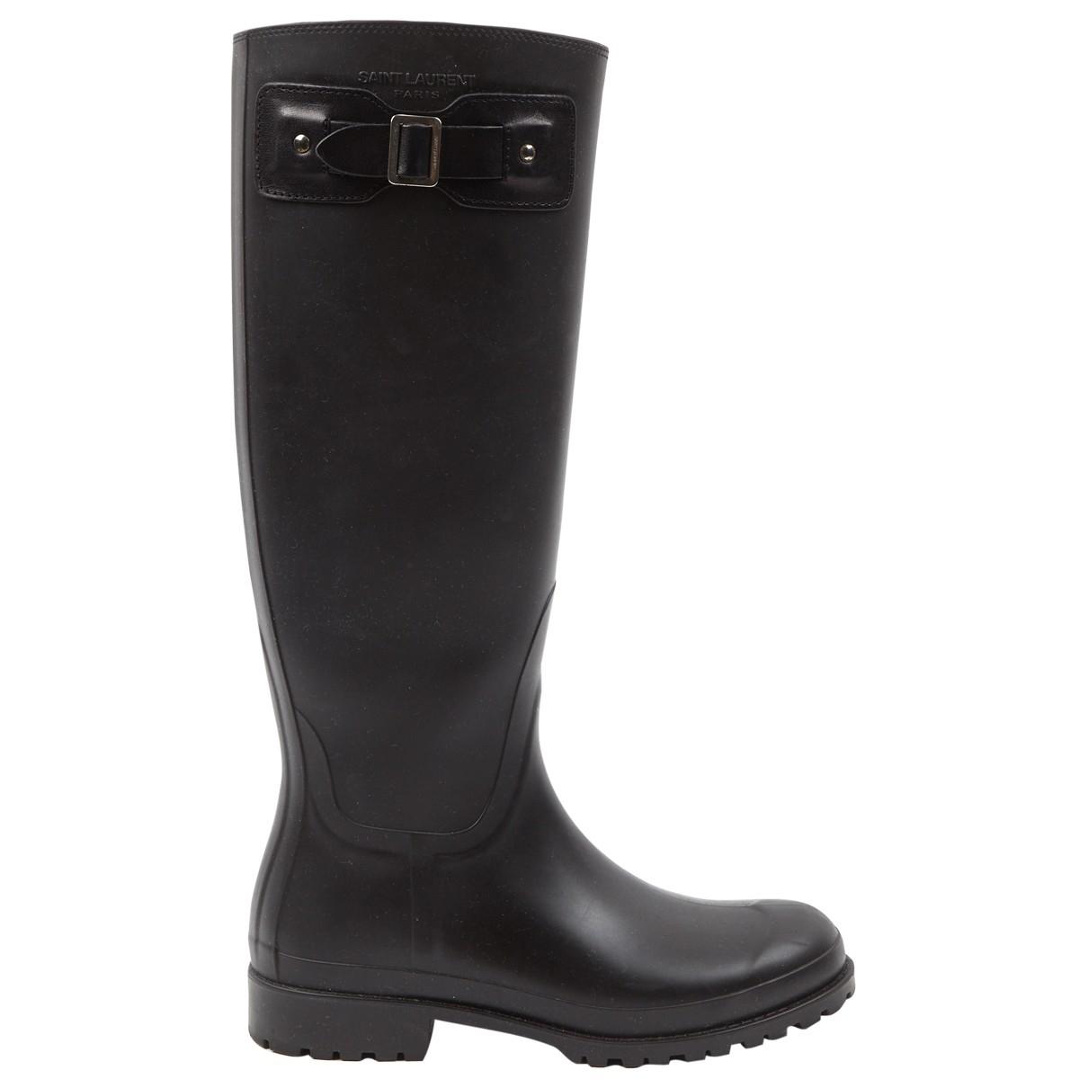 Saint Laurent \N Black Rubber Boots for Women \N