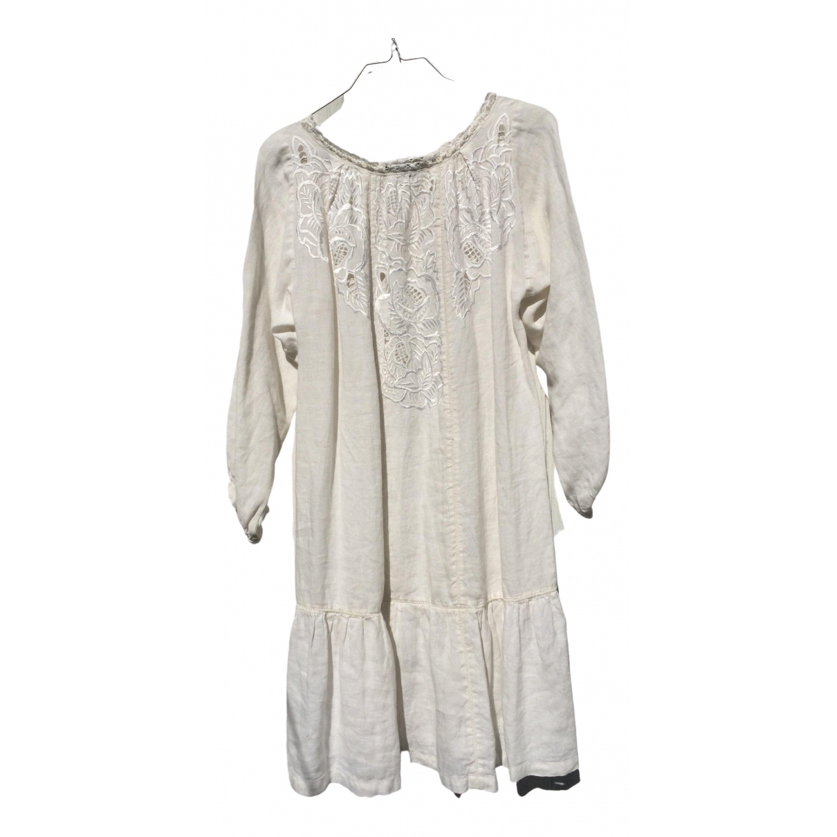 Isabel Marant Etoile \N Kleid in  Weiss Leinen