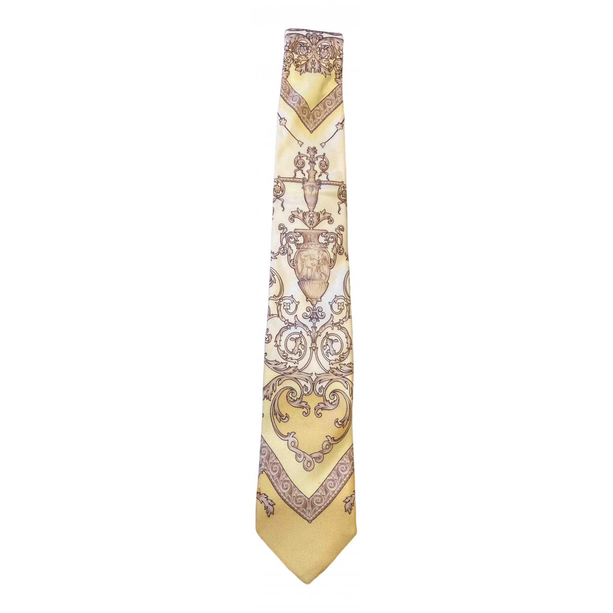Versace \N Krawatten in  Ecru Seide