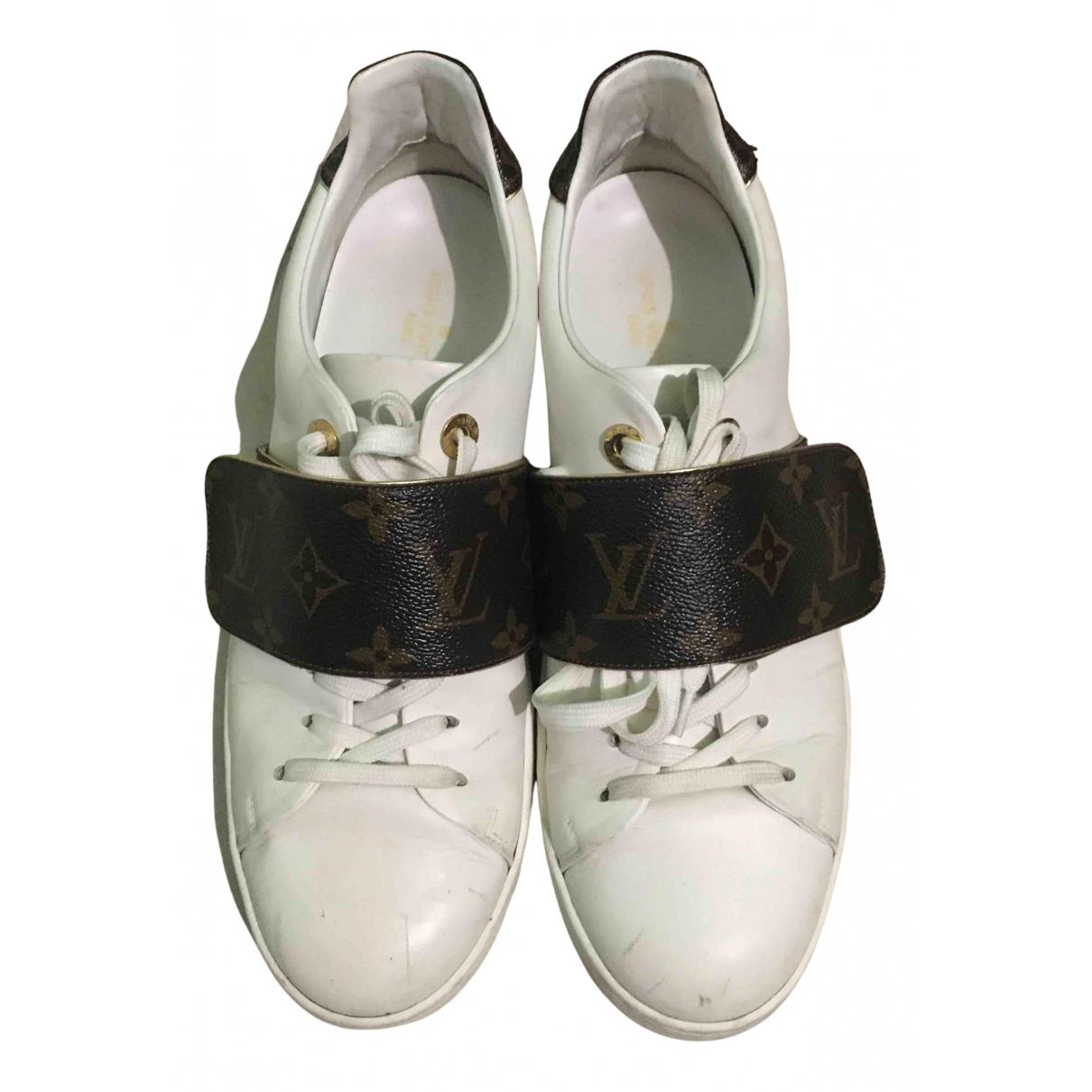 Louis Vuitton - Baskets FrontRow pour femme en cuir - blanc