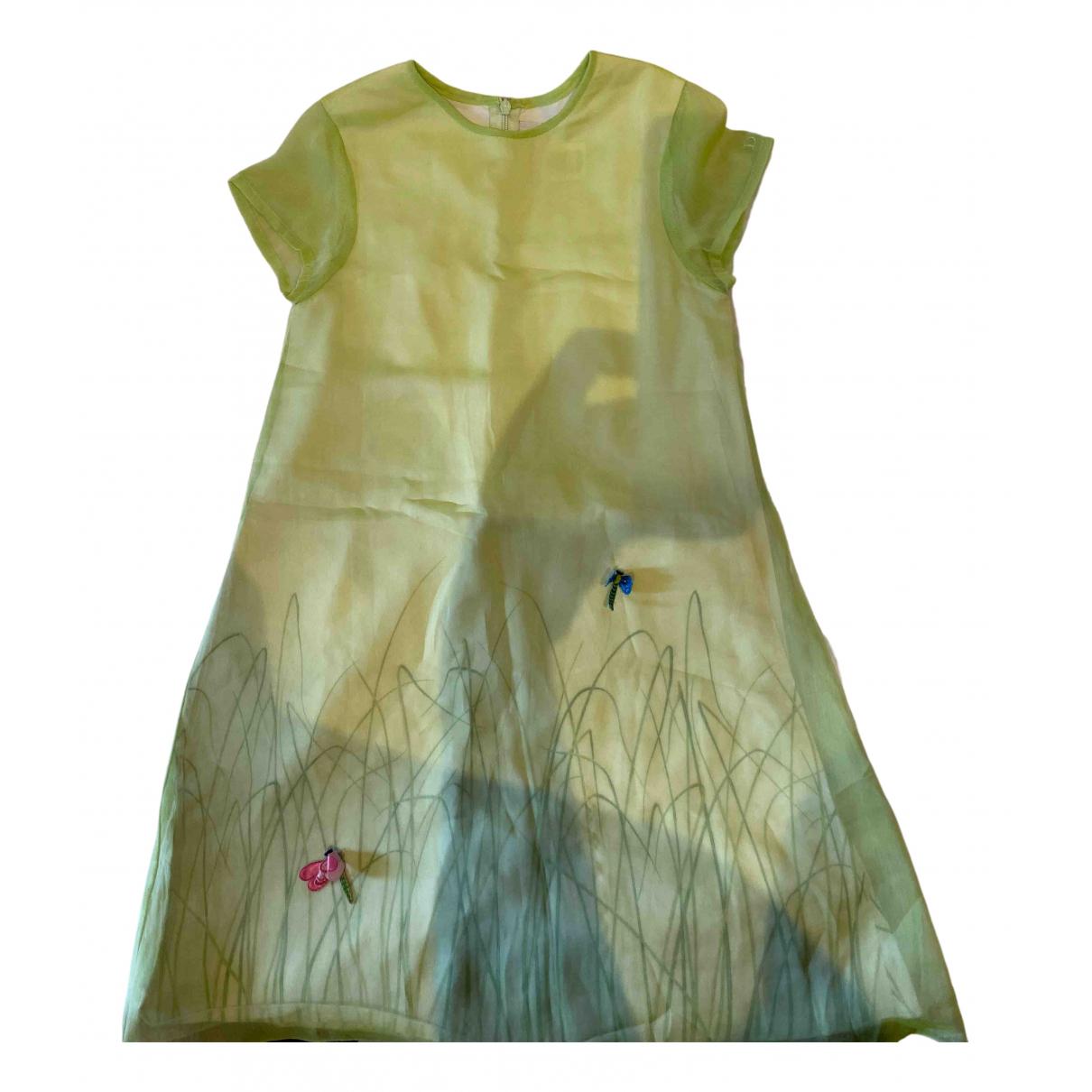Dior - Robe    pour enfant en soie - vert