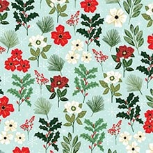 Christmas Flowers Gift Wrap - 30 X 208' - Gift Wrapping Paper by Paper Mart
