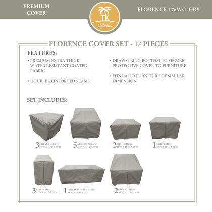 FLORENCE-17aWC-GRY Protective Cover Set  for FLORENCE-17a in