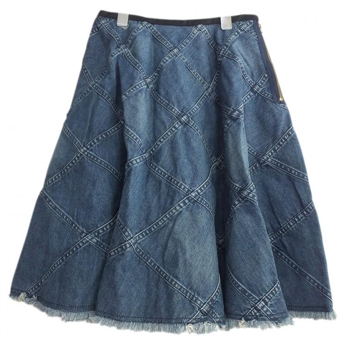 Junya Watanabe \N Rocke in  Blau Denim - Jeans