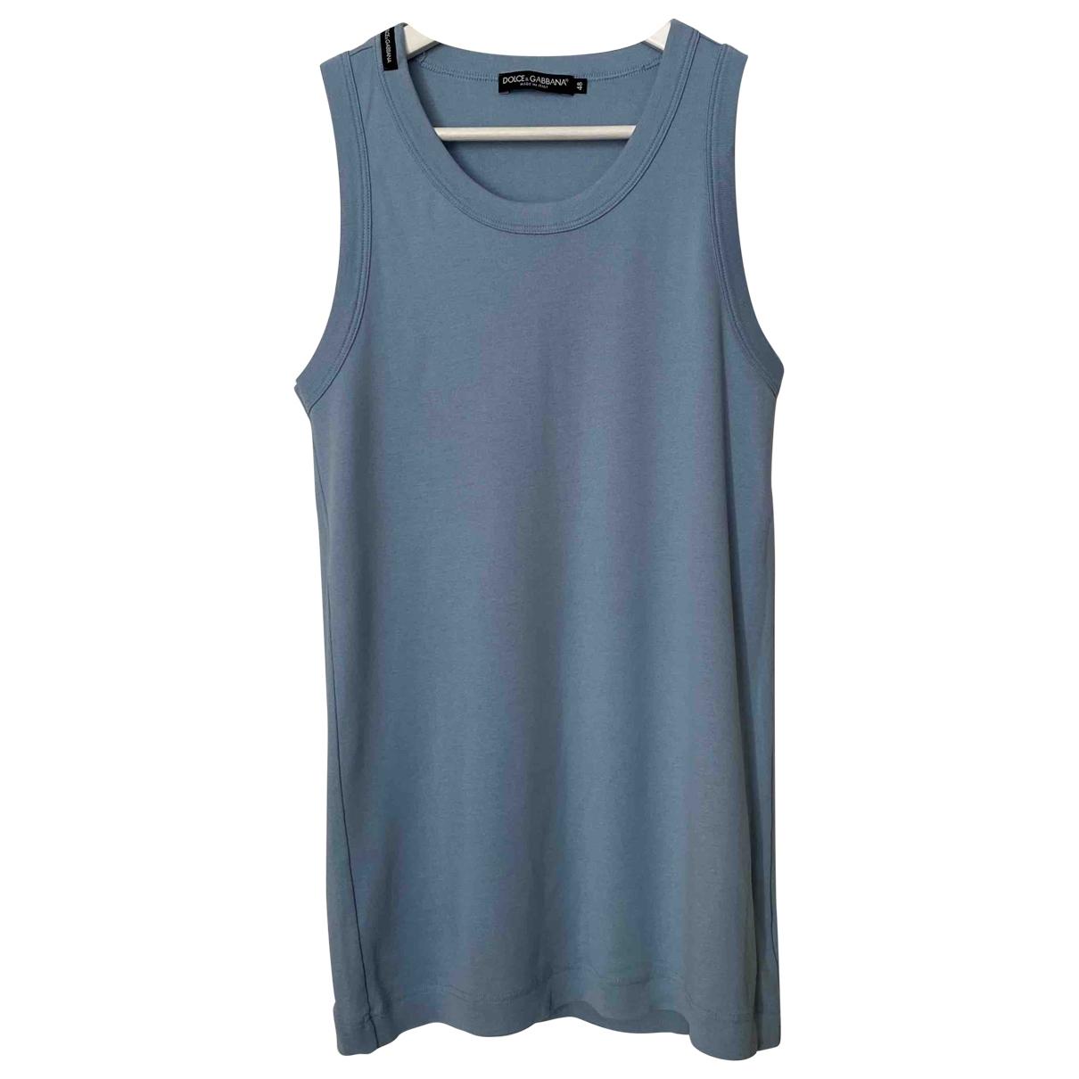 Dolce & Gabbana \N Blue Cotton T-shirts for Men M International