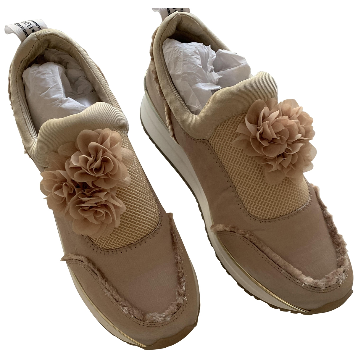 Liu.jo \N Beige Cloth Trainers for Women 39 IT