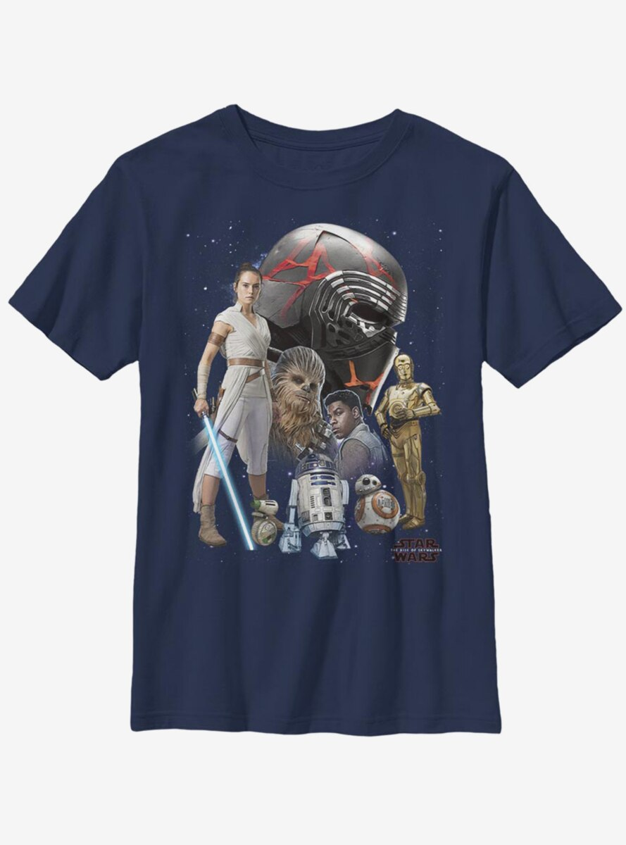 Star Wars Episode IX The Rise Of Skywalker Heroes Of The Galaxy Youth T-Shirt