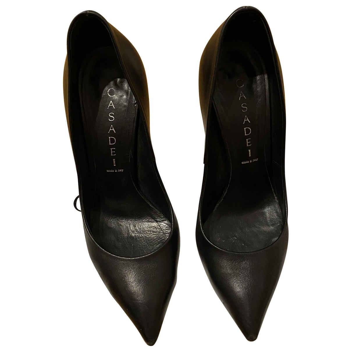 Casadei \N Black Leather Heels for Women 36 EU