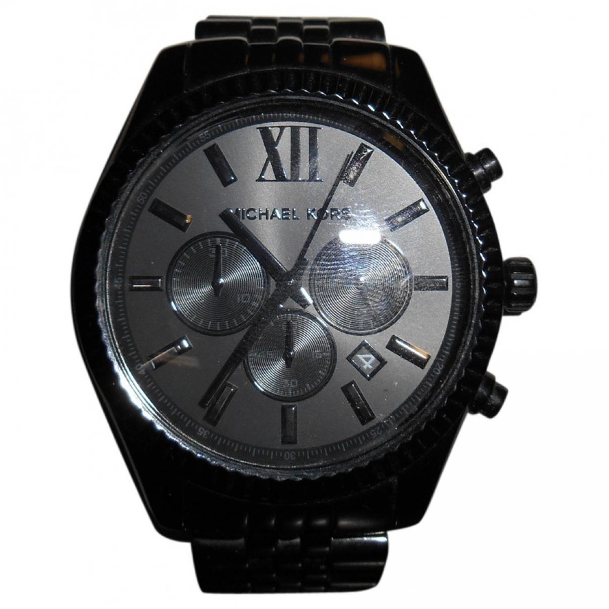Michael Kors \N Uhr in  Schwarz Stahl