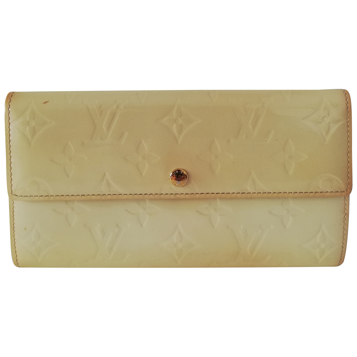Louis Vuitton Virtuose White Patent leather wallet for Women N