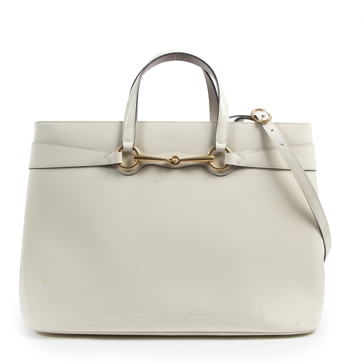 Gucci \N Handtasche in  Weiss Lackleder