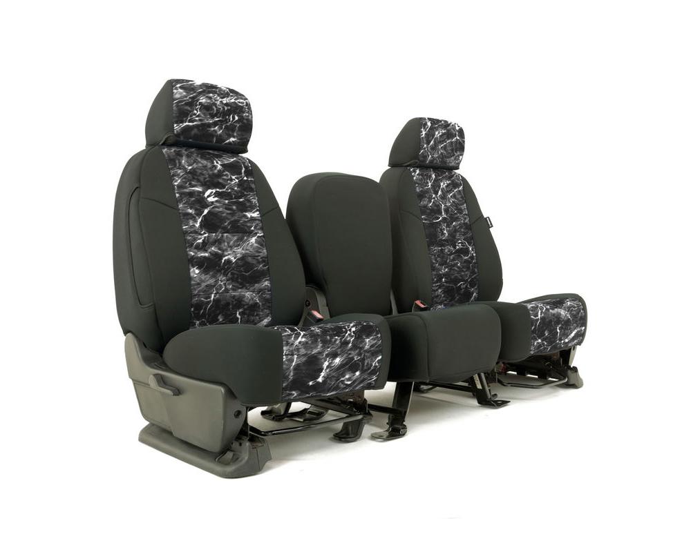 Coverking CSC2MO26CH9628 Skanda Custom Seat Covers 1 Row Neosupreme Mossy Oak Elements Blacktip with Black Sides Rear Chevrolet Silverado 1500 2014-20