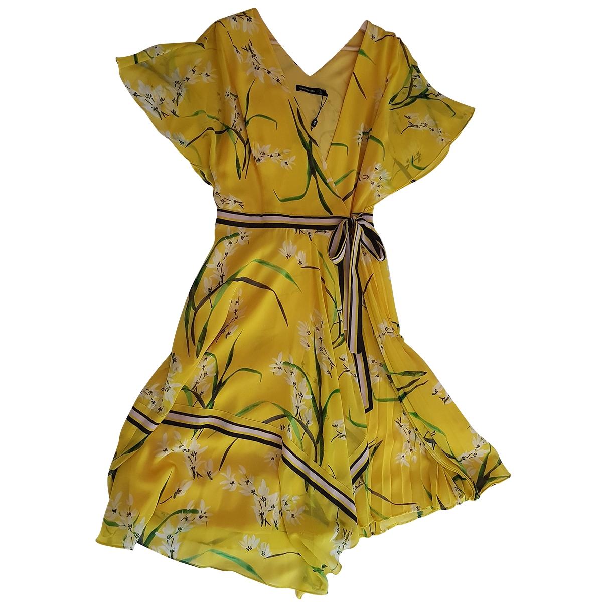 Karen Millen \N Yellow Silk dress for Women 40 FR