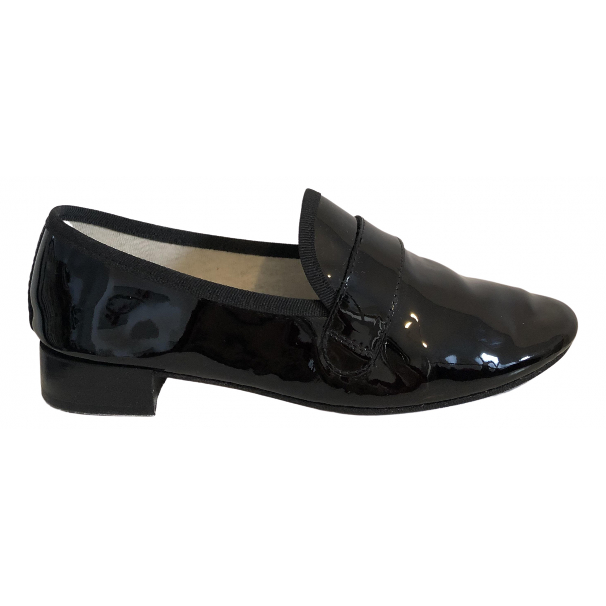 Repetto N Black Patent leather Flats for Women 37 EU