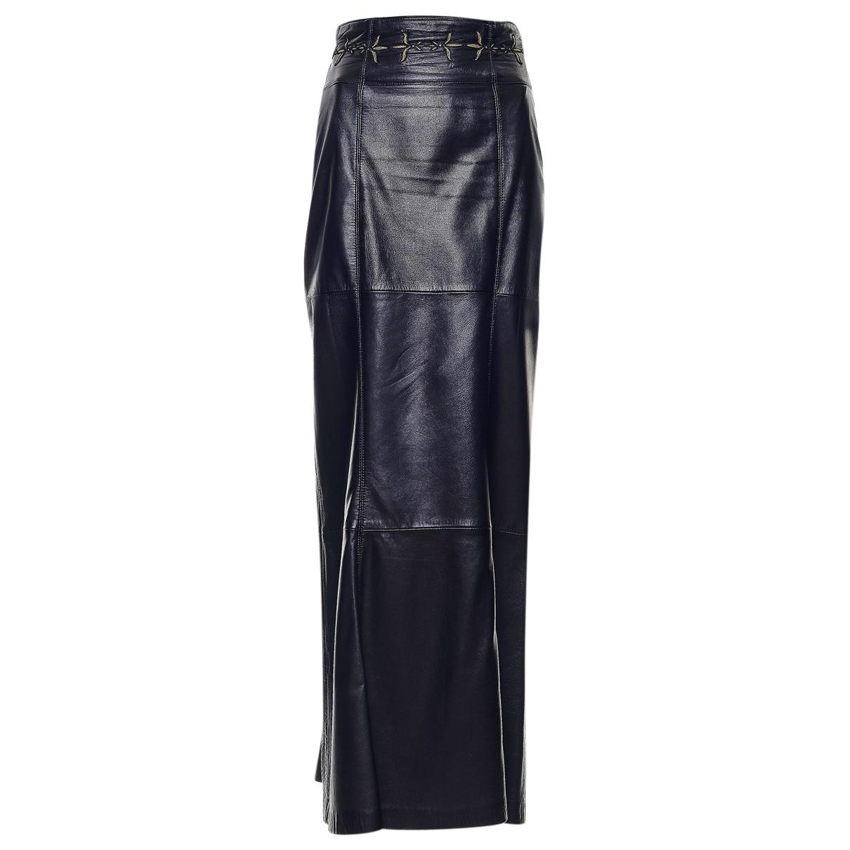 Escada \N Black Leather skirt for Women S International