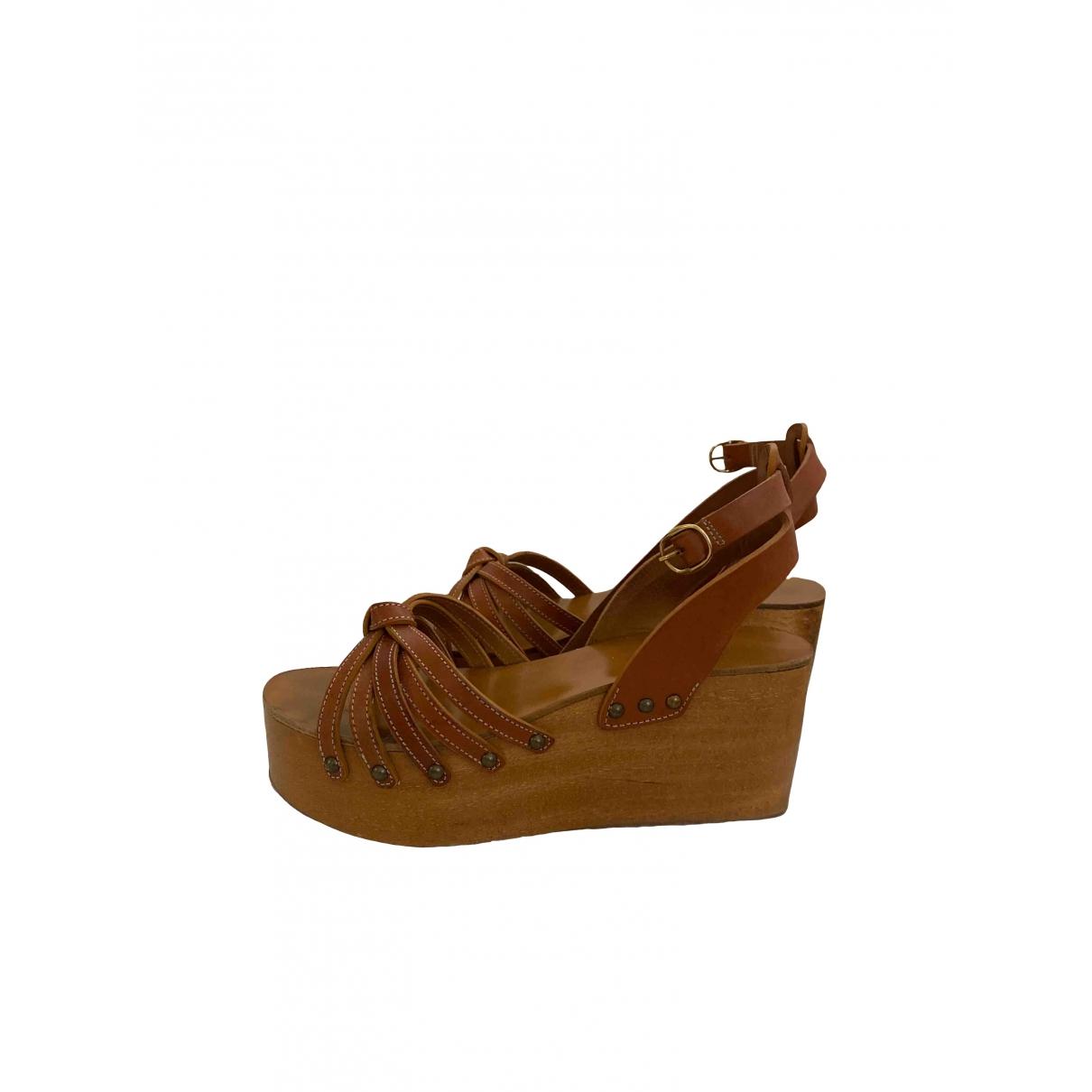 Isabel Marant Etoile \N Camel Fur Sandals for Women 38 EU