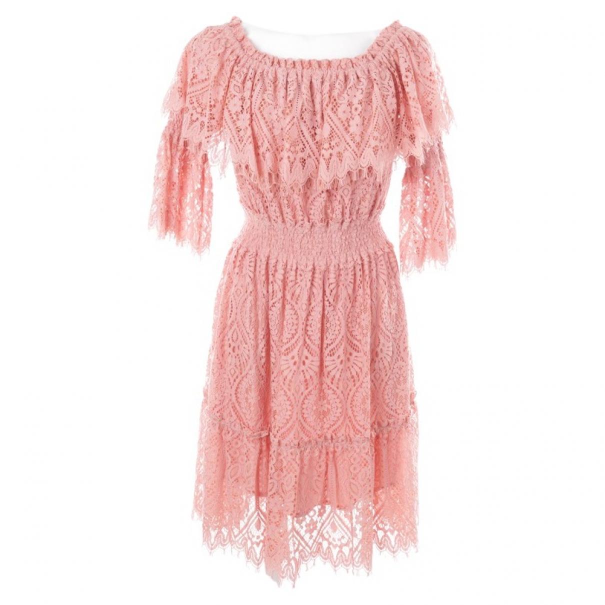 Autre Marque \N Kleid in  Rosa Baumwolle