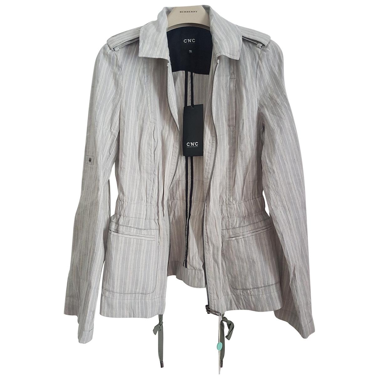 Costume National \N Grey Cotton jacket for Women 36 FR